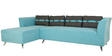 Adelia RHS Three Seater Sofa with Lounger in Celeste Blue Colour by CasaCraft