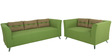 Adelia Two Seater Sofa in Pear Green Colour by CasaCraft