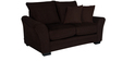Adrian Two Seater Sofa with Throw Cushions in Java Brown Colour by CasaCraft