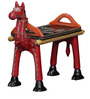 Adhvaga Hand Painted End Cum Coffee Table in Red Finish by Mudramark