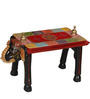 Dvidanta Hand Painted Coffee Table in Black Color by Mudramark