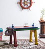 Dvidanta - Hand Painted End cum Coffee Table in Purple Color by Mudramark