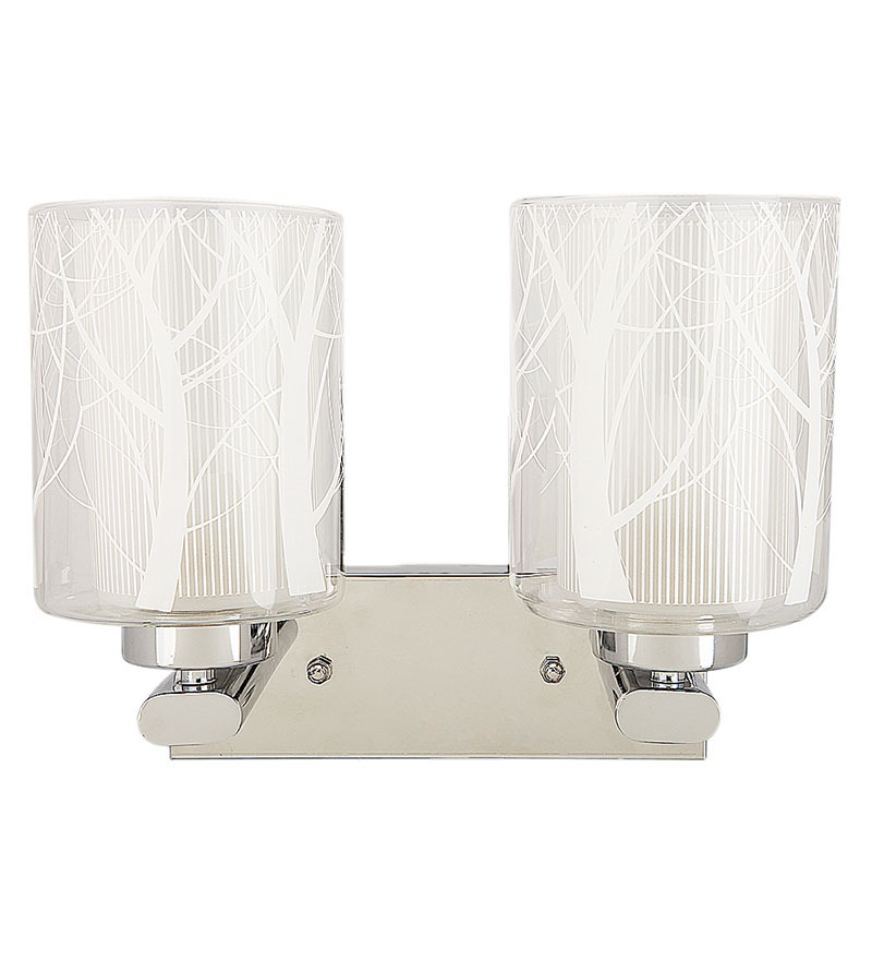 Wall Light Glass Lamp Shades : Aesthetics Contemporary Double Glass Designer Wall Light with Two Lamp Shades by Aesthetics Home ...