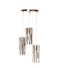 Santa Lucia Ceiling Lamp in White & Black by CasaCraft