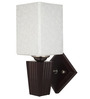 Natal Wall Light in Brown by CasaCraft