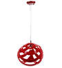 Akon Ceiling Lamp in Red by Bohemiana