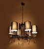 Nidia Chandelier in Black by Casacraft