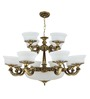 Santa Marinha Chandelier in Antique Gold by CasaCraft