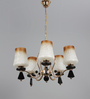 Carmelo Chandelier in Brown & White by CasaCraft