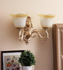 Acklom Wall Light in Brown & White by Amberville