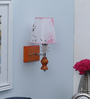 Antonia Wall Light in Pink & White by CasaCraft