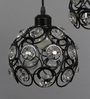 Abba Ceiling Lamp in White & Black by Bohemiana