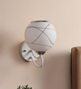 Caracas Wall Light in White & Black by CasaCraft