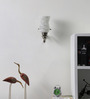 Subrata Wall Light in White by Mudramark