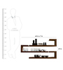 Afydecor Brown Ply Wood Free-form Silhouette Wall Shelf