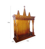 Afydecor Brown Solid Wood Luted Pillars Carved Altar