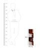 Agata Contemporary Wall Shelf in Brown by CasaCraft