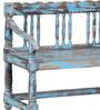 Ubu Bench in Blue Distress Finish by Bohemiana