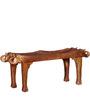 Ahilya Handcrafted Bench in Honey Oak Finish by Mudramark