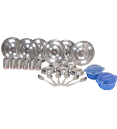 Airan Stainless Steel 24 Pc Dinner Set with FREE Mayo Casserole
