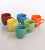 AION Multicolor Ceramic 200ML Coffee Cup - Set of 6