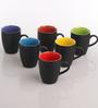 AION Multicolor Ceramic 300 ML Milk Cup - Set of 6