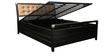 Ajanta Metal Queen Bed with Hydraulic Storage in Black Colour by Diamond Interiors