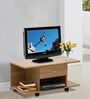 Akira Entertainment cum Coffee Table with One Drawer in Walnut Finish by Mintwud