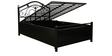 Alberta Metal Single Bed with Hydraulic Storage in Black Colour by Diamond Interiors