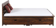 Illinois King Bed with storage in Provincial Teak Finish by Woodsworth