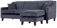 Alia Superb Flexible Two Seater Sofa with Lounger in Bluish Grey Colour by Furny