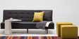 Alia Three Seater Sofa Bed in Black Colour by Furny
