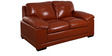 Alison Two Seater Sofa in Caramel Colour by Evok