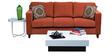 Alton Three Seater Sofa in Rust Colour by Forzza