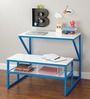 Albert Kids Study Table in Blue Colour by Asian Arts