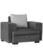 Alexandera One Seater Sofa in Black & Silver Colour by Auspicious