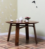 Logan Four Seater Dining Table in Warm Walnut Finish by Woodsworth