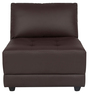 Alia Deep Comfortable Chair in Brown Leatherette by Furny