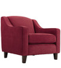 Alia Superb Armchair in Maroon Colour by Furny