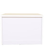 Alicia High Gloss Night Stand in White Colour by HomeTown