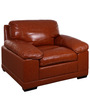 Alison One Seater Sofa in Caramel Colour by Evok