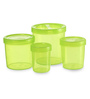 All Time IRIS Green Cylindrical Storage Container - Set of 4