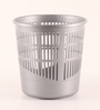 All Time Plastic Silver 6.5 L Tidy Dustbin - Set of 3