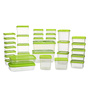 All Time Polka Green Rectangle Storage Container - Set of 31