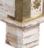 Venessa Trunk Box Cum Bench in Antique Finish by Bohemiana