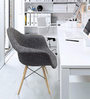 Alondro Cushion Accent Chair (Set of 2) in Fossil Grey Colour by CasaCraft