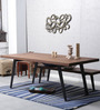 Tiber Six Seater Dining Table in Premium Acacia Finish by Woodsworth