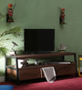 Tiber Entertainment Unit in Premium Acacia Finish by Woodsworth