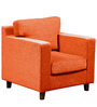 Alton One Seater Sofa in Rust Colour by Forzza