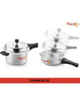 Pigeon Silver Aluminium 5 L Pressure Cooker with Pan